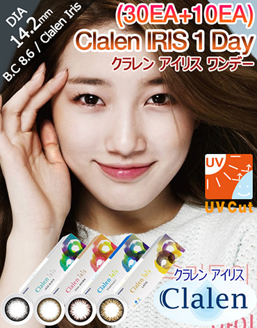 [1 Day/4Color] クラレン アイリス-1 ワンデー - Clalen IRIS - 1 Day (30pcs+10pcs) [14.2mm]